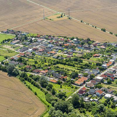 Letecké zábery obce Vysoká pri Morave  Obrázok 8