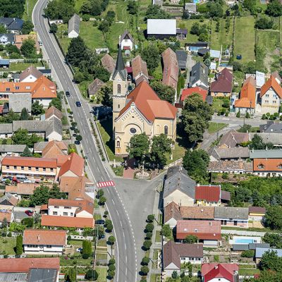 Letecké zábery obce Vysoká pri Morave  Obrázok 6