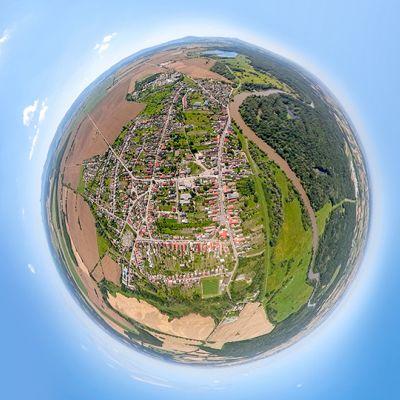Letecké zábery obce Vysoká pri Morave  Obrázok 11