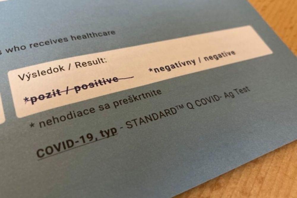Výsledky celoplošného testovania na COVIDS-19  vo Vysokej pri Morave 31.10. 2020 - 1.11.2020
