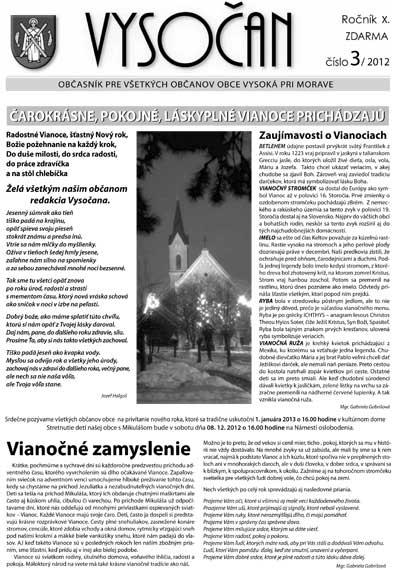 Vysočan 3/2012
